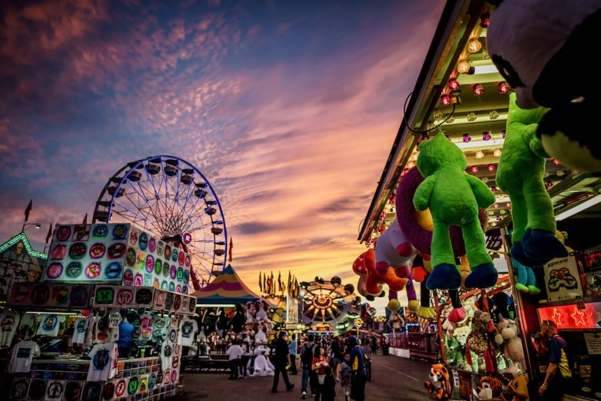 a beautiful photo of a carnival midway - i hope you enjoy this, Maxwell Ivey!